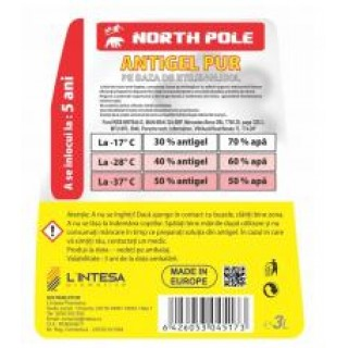 ANTIGEL NORTH POLE ROSU G12 3L